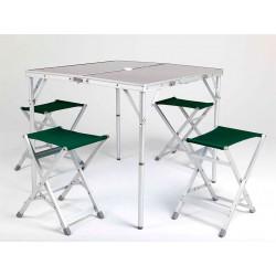 Походный стол с табуретами на 4 человека